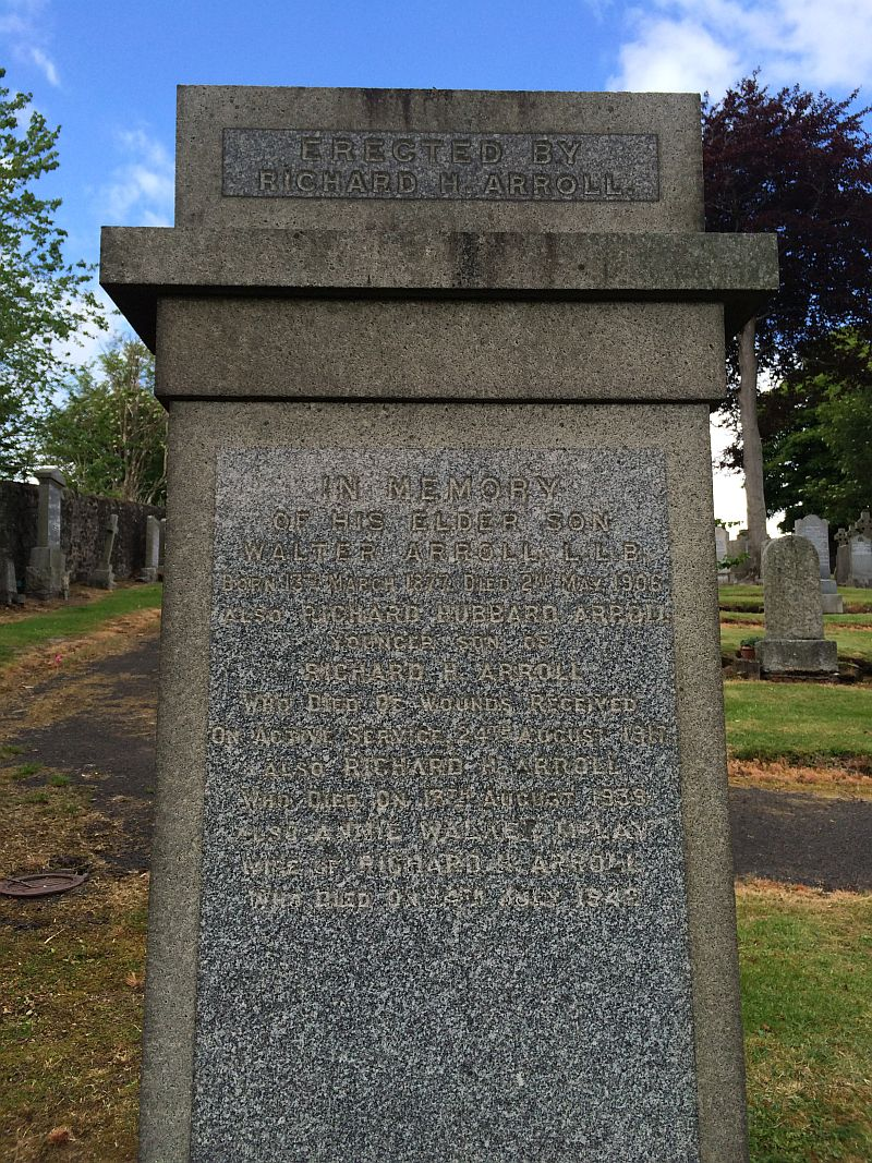 Richard Arroll Kilbarchan memorial